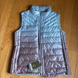 Gap silver puffy vest